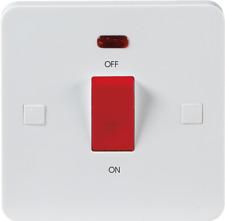 Knightsbridge Pure 45A DP Switch Neon (Single Size) - 9mm PU8331N White