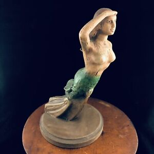 "Vtg Alfco NY Mermaid Hanging Maritime Folk Art 10.75"" Nautical Pirate Ship Bust"