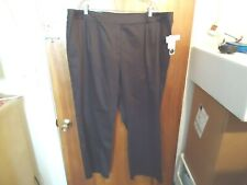 "Womens "" NWT "" Liz Claiborne Audra Size 22W R Brown Dress / Casual Pants"
