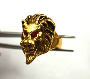 68.10 Carat Handmade Turkish Zormon Silver Gold Plated Tiger US Ring Size 11