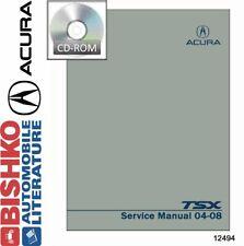 Bishko Oem Digital Repair Maintenance Shop Manual Cd for Acura Tsx 2004 - 2008 (Fits: Acura)