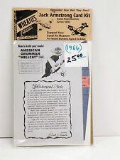 "GENERAL MILLS U/A ""AMERICAN GRUMMAN ""HELLCAT"" JACK ARMSTRONG CARD KIT/CIRCA 1944"