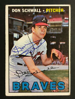 Don Schwall Braves signed 1967 Topps baseball card #267 Auto Autograph 1