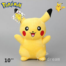Japanese Anime POKEMON Pikachu Soft Plush Toy Doll - Laughing 10'' Teddy Gift