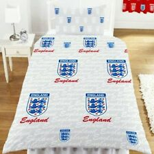 BNIP England Football FA Three Lions Single Bed Duvet Cover & Pillowcase Set