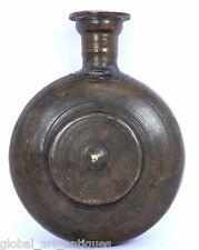 Vintage Unique Shape Brass Handcrafted Wine /Water Bottle, Rich Patina.G7-721 US