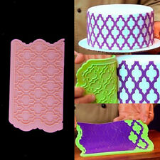 Lace Fondant Icing Cake Decorating Tool Jelly Silicone Embossing Mold Mould