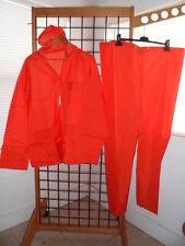 NOS Anderson-Kittelson Sz XL Nylon Outer Motorcycle Bright Orange Rain Coat Suit