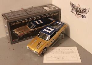 Mario Andretti 1968 Mercury Cyclone 1/24 University NASCAR Diecast Autographed