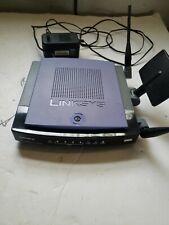 Linksys WRT300N V1 Wireless N Broadband Router 4 Ports w/ Powercord