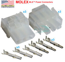 Molex -3 Complete Set - (3 Circuit) w/14-20 AWG, Wire Connector - 2.13mm D, MLX™