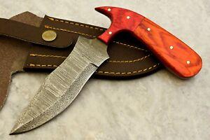 CUSTOM HAND MADE DAMASCUS STEEL BLADE HUNTING SKINNING KNIFE - # W-3326