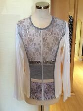 Just White Top Size 20 BNWT Winter White Grey Beige Lace RRP £95 Now £43