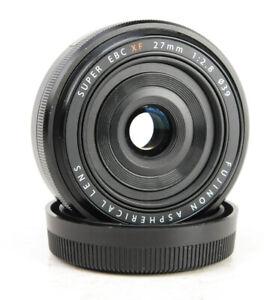 Fujinon XF 27mm F2.8 Autofocus Aspherical Fuji Prime Lens +  Rear Cap
