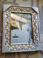 SILVER FRAME ENCHANTED Hearts & Pierced Jewels Rhinestones 5 x 7 NIB Table top