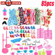 More details for 88pcs/set for barbie doll dresses, shoes and jewellery clothes accessories uk