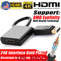 Displayport Male to HDMI Female Adapter Lead Converter For HDTV PC 1080P HP/DELL