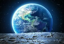 Moon Earth Space Galaxy Universe Home Decor Wall Art Canvas Picture 20x24inch