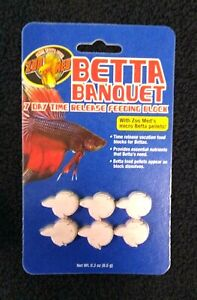 ZOO MED  Betta Banquet 7  Day Time Release Feeding Blocks Betta Vacation Food