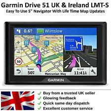 Garmin Sat Nav Drive 51LMT-S With UK & Ireland Navigator + LIFETIME MAP UPDATES