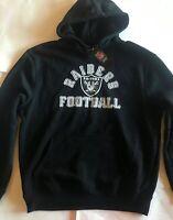 Oakland Raiders Football Men's Sweatshirt Black New Large Majestic L NWT NFL