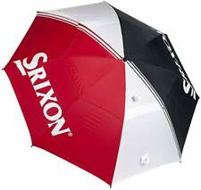Windproof Double Canopy Umbrella 62 Inch (White,Red and Black) UK