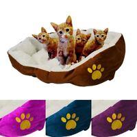 Super Warm Soft Fleece Puppy Pets Dog Cat Bed House Basket Nest Mat Waterproof