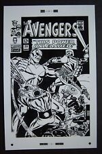 Large Production Art AVENGERS #29 cover, DON HECK art, 11x17