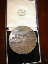 large art nuvo bronze medal Wolfers Freres silversmith