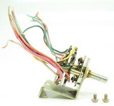 AKAI GX365D GX Series Reel Deck Part - Brake Control Switch 3 Pos ROTARY w/Mount