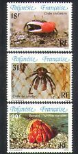French Polynesia 1986 Coconut Crab/Crabs/Marine/Nature/Wildlife 3v set (n38363)