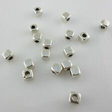 240/2000pcs Smooth Square Cube Tibetan Gold/Silver Spacer Beads Jewelry Beading