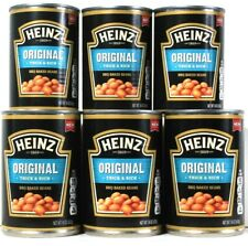 6 Cans Heinz 16 Oz Original Thick & Rich Slow Simmered BBQ Baked Beans BB 2/20