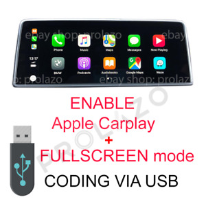 BMW EVO Carplay fullscreen activation + VIM + Android Screen-mirroring via USB