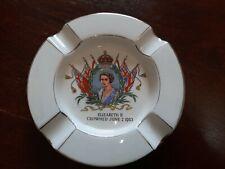 1953 Royal Winton Ashtray. Queen Elizabeth II Crowned