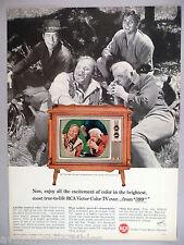 Bonanza cast for RCA Victor Color Television TV PRINT AD - 1964
