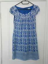 OASIS blue and white silk tunic dress - size 8