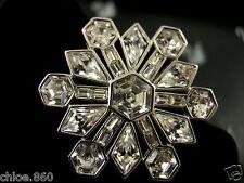 Signed Swarovski Crystal Snowflake Pin ~ Brooch Retired New