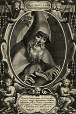 Portrait Matthieu de Baschi Capucins - Cornelius Galle Gall Gravure XVIIème
