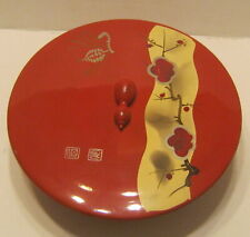 Lovely JAPANESE Lacquerware Lidded Bowl by ENESCO Excellent Condition!!!!