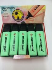 New Colours- Stabilo Boss Highlighters Box of 10 -HINT OF MINT