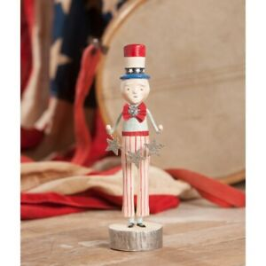 Bethany Lowe UNCLE SAM WITH STAR GARLAND Figure by Michelle Lauritsen (ML8899)