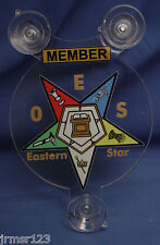 ORDER OF EASTERN STAR  F&AM  MASONIC MASONS MEMBER OR FAMILY MEMBER   CAR SHIELD