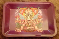 Metal Rolling Tray, Novelty,Papers,Tobacco,Smoking,Rizla,Sewing pins,Xmas,W@W