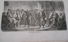 Gravure 1864 - Le café Maure danse de Turcos