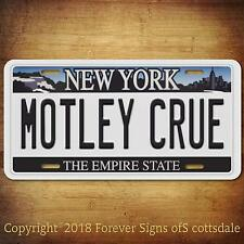 Motley Crue Heavy Metal Band New York Aluminum Vanity License Plate