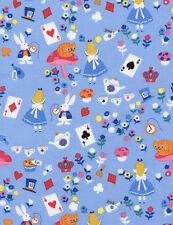 Fat quarter alice au pays des merveilles 100% coton quilting tissu timeless treasures
