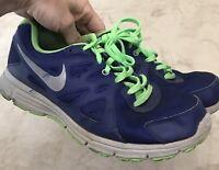 Nike - Boys Revolution 2 Green Blue Size 7Y Running Sneaker Shoe