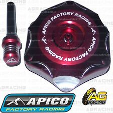 Apico Red Alloy Fuel Cap Vent Pipe For Suzuki RMZ 450 2013 Motocross Enduro