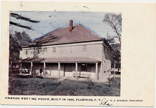 FLUSHING QUEENS NY – Hand Colored PC Friends Meeting House (Built in 1695) - udb